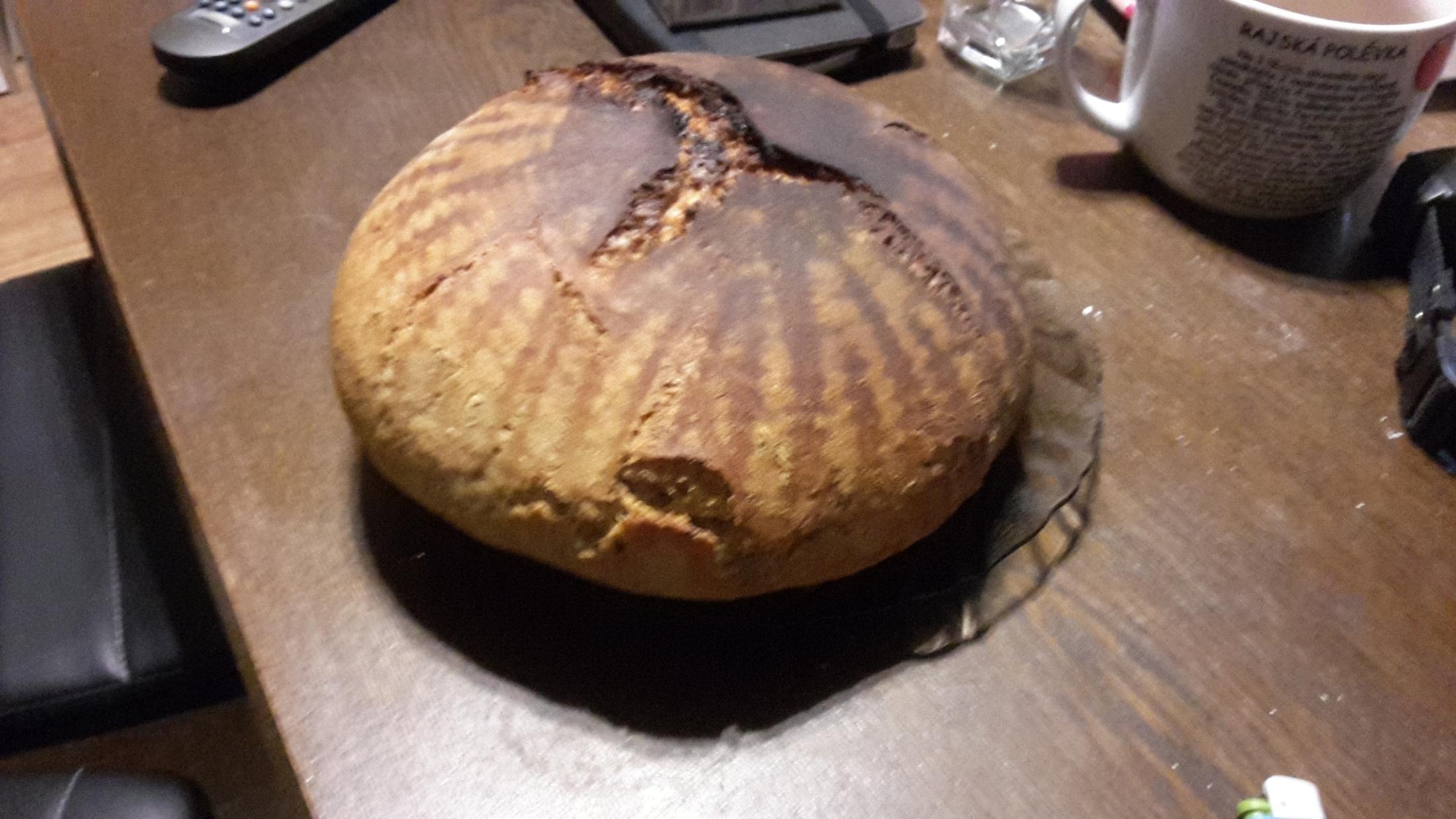 Recept Chléb z žitného kvásku - Napoprvé to vypadá dobře.