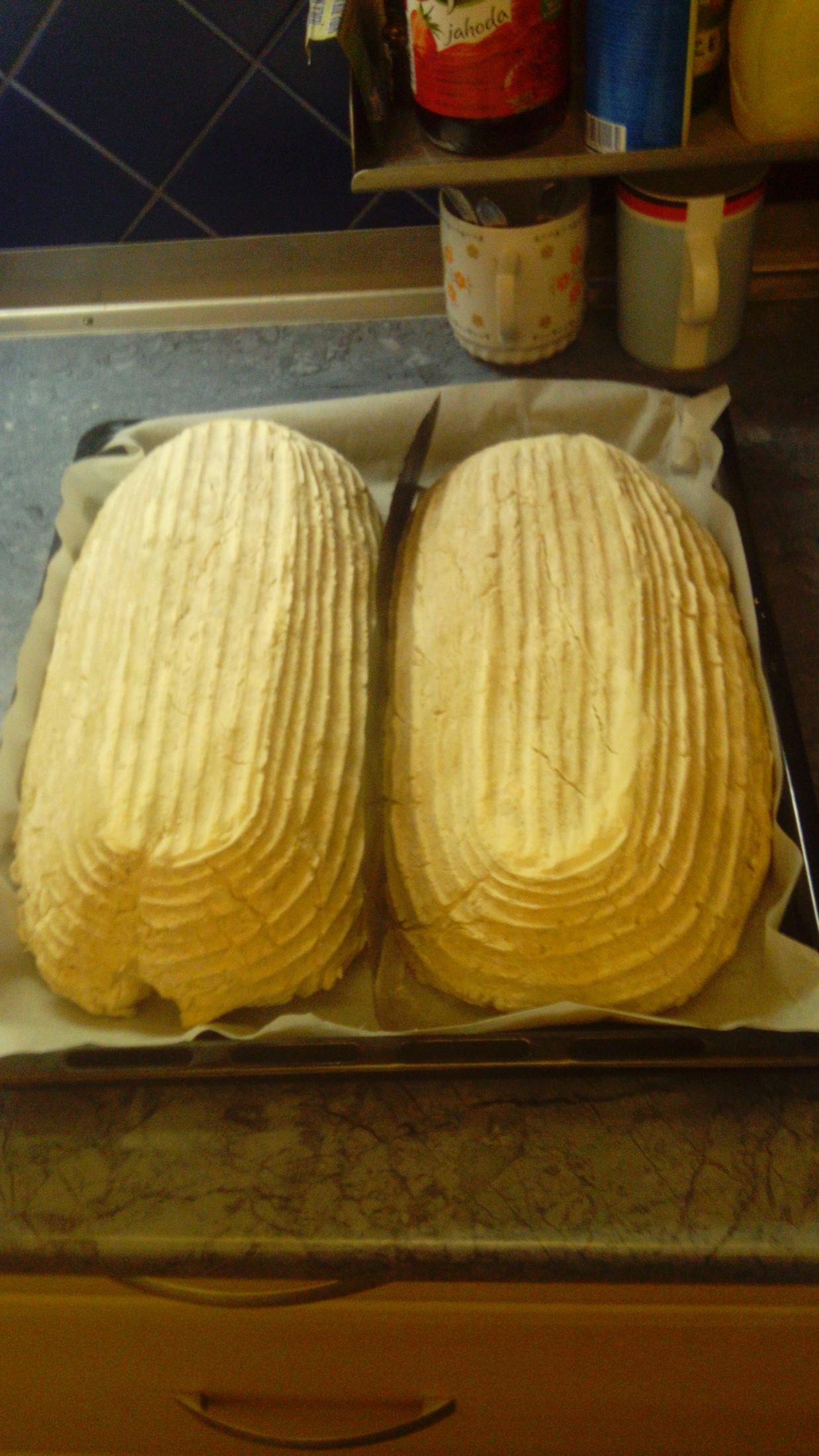 Recept Chléb z žitného kvásku - S osatky vyklopit na plech.