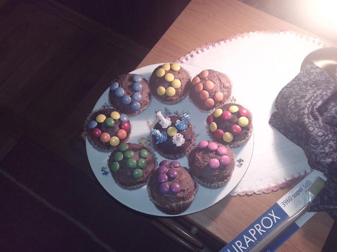 Recept Čokoládové mufiny - narozeninová úprava