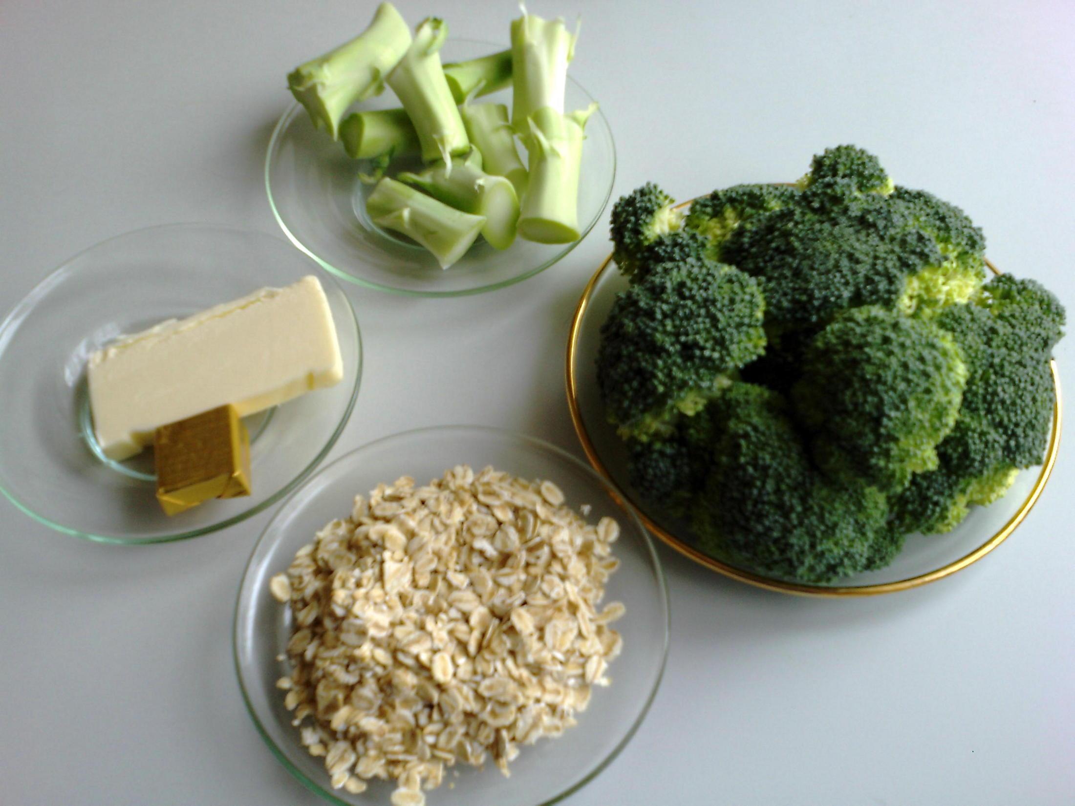 Recept Brokolicová polévka s vločkami - Brokolicová polévka s vločkami