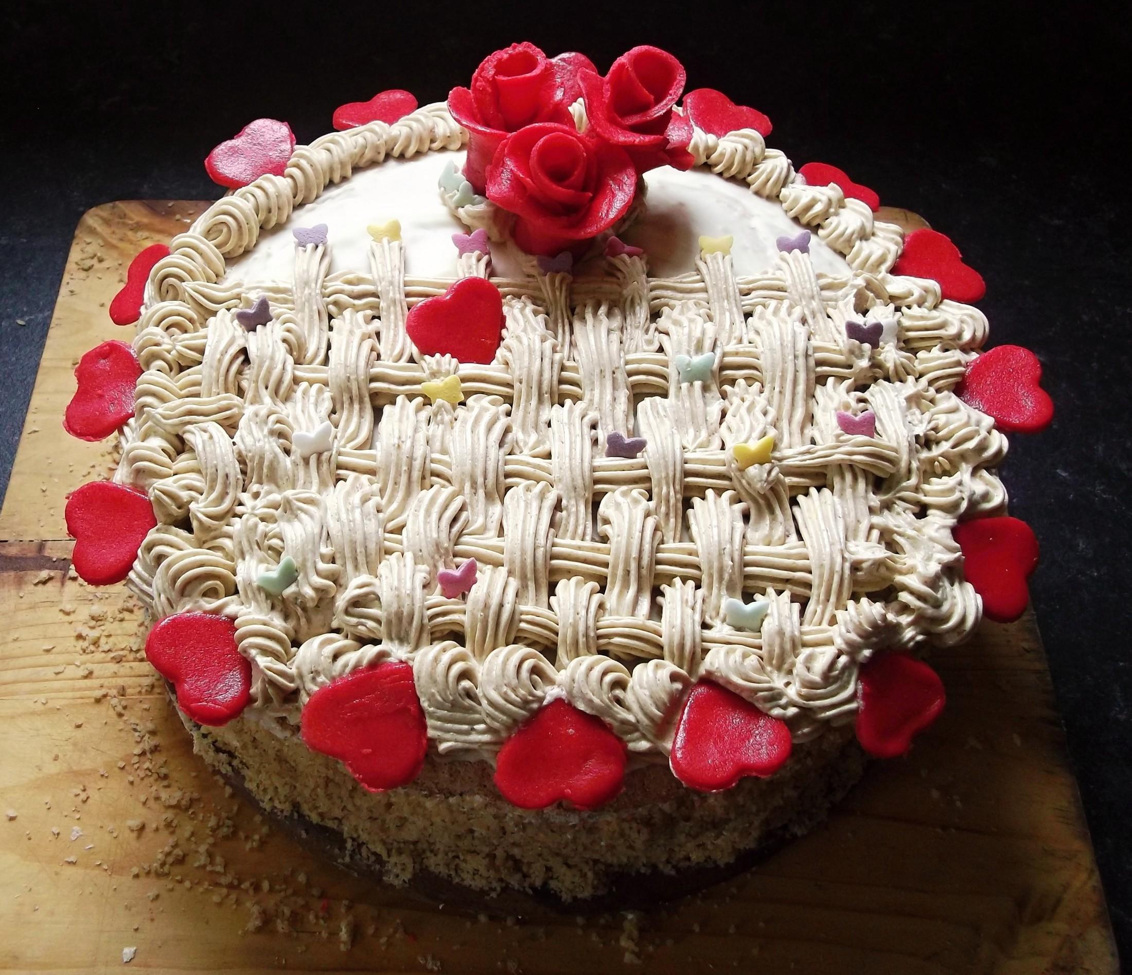 Recept Ořechový dort s kávovým krémem - Orechovy dort s kavovym kremem