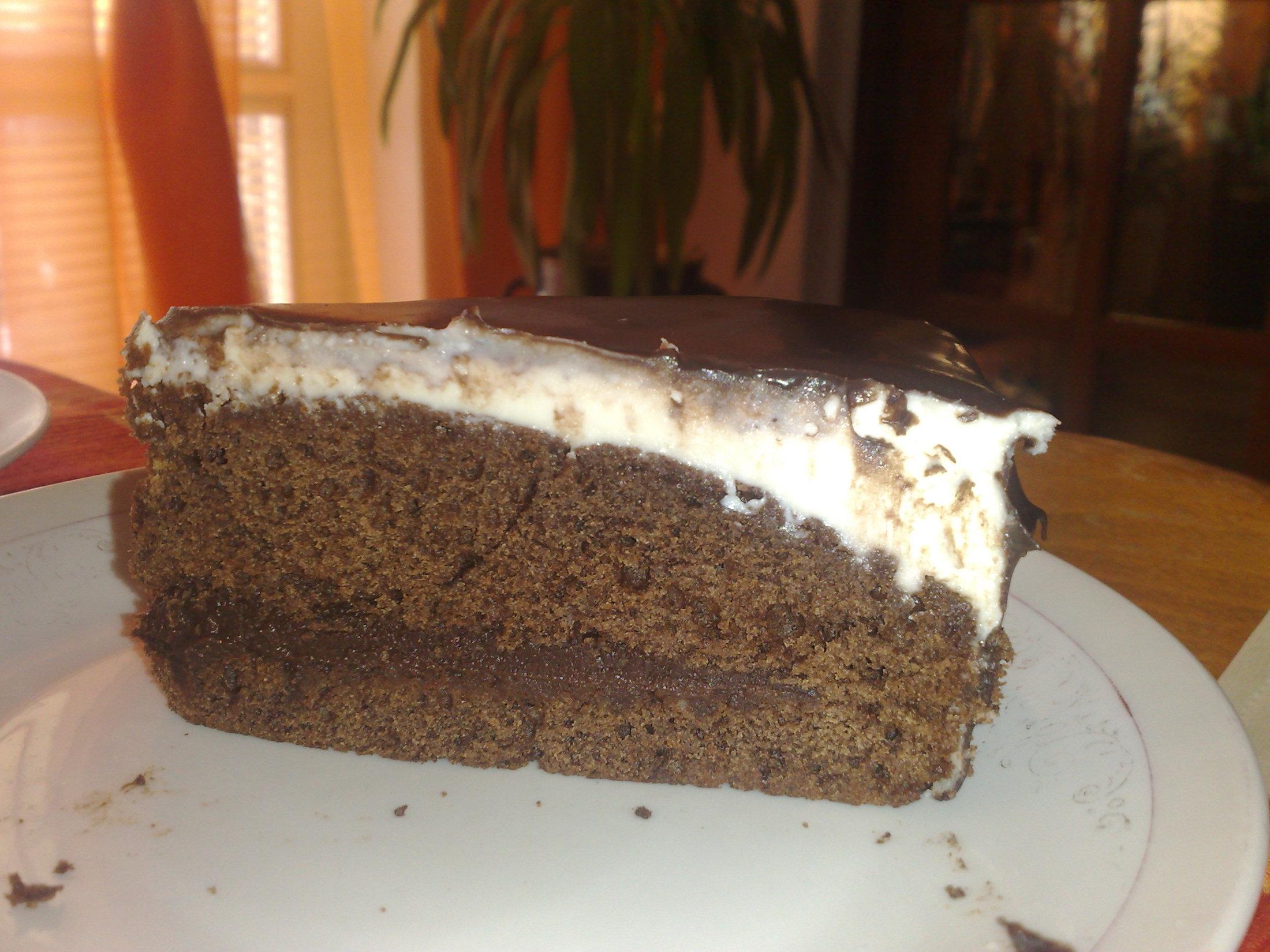 Čokoládový dort s cappuccinem