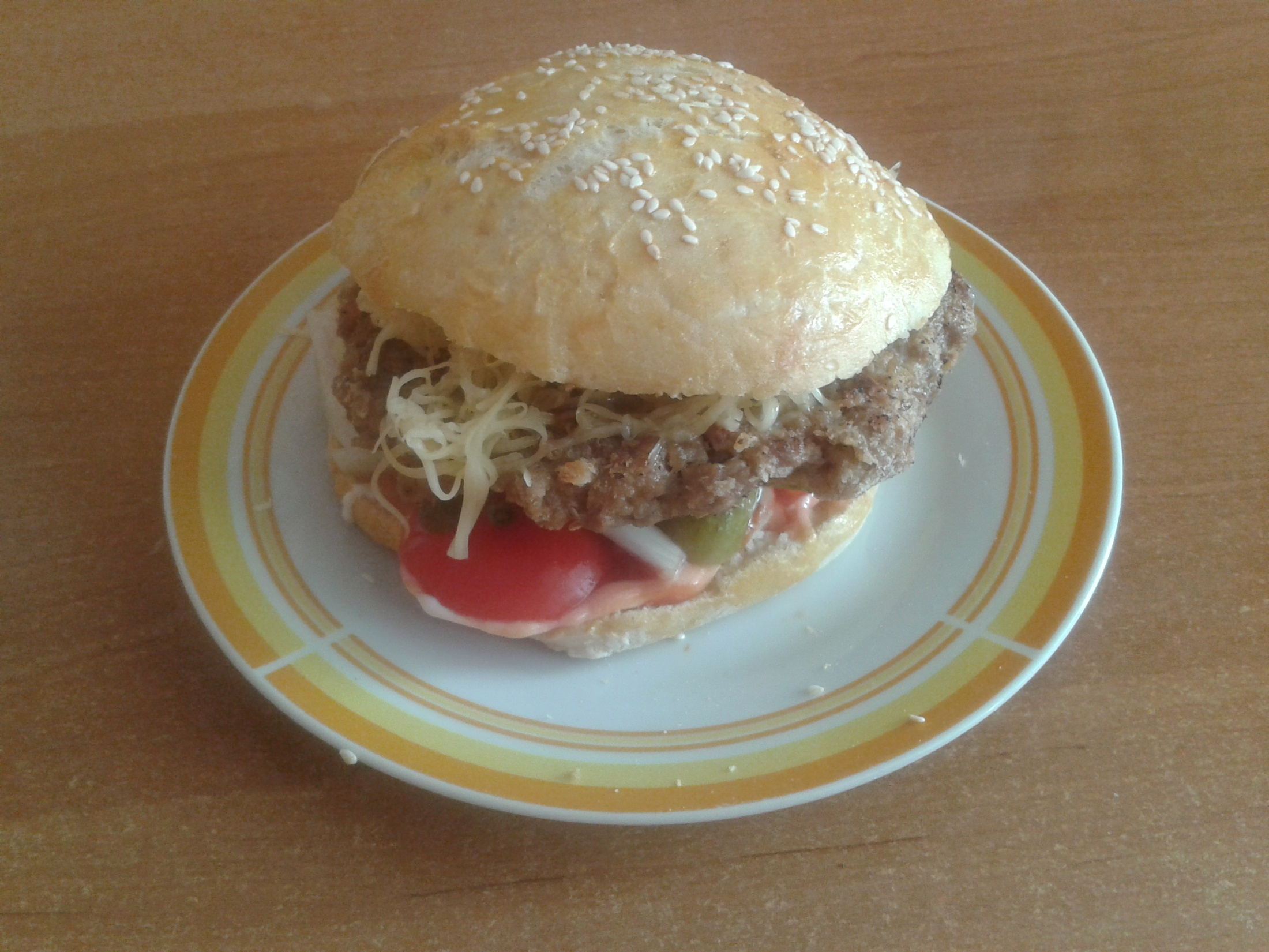 Recept Domácí housky na hamburgery - domácí hamburger