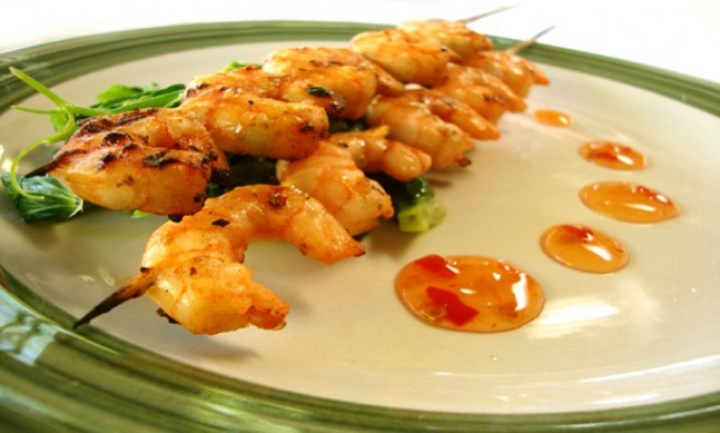 Fotografie receptu: Marinované krevety na grilu
