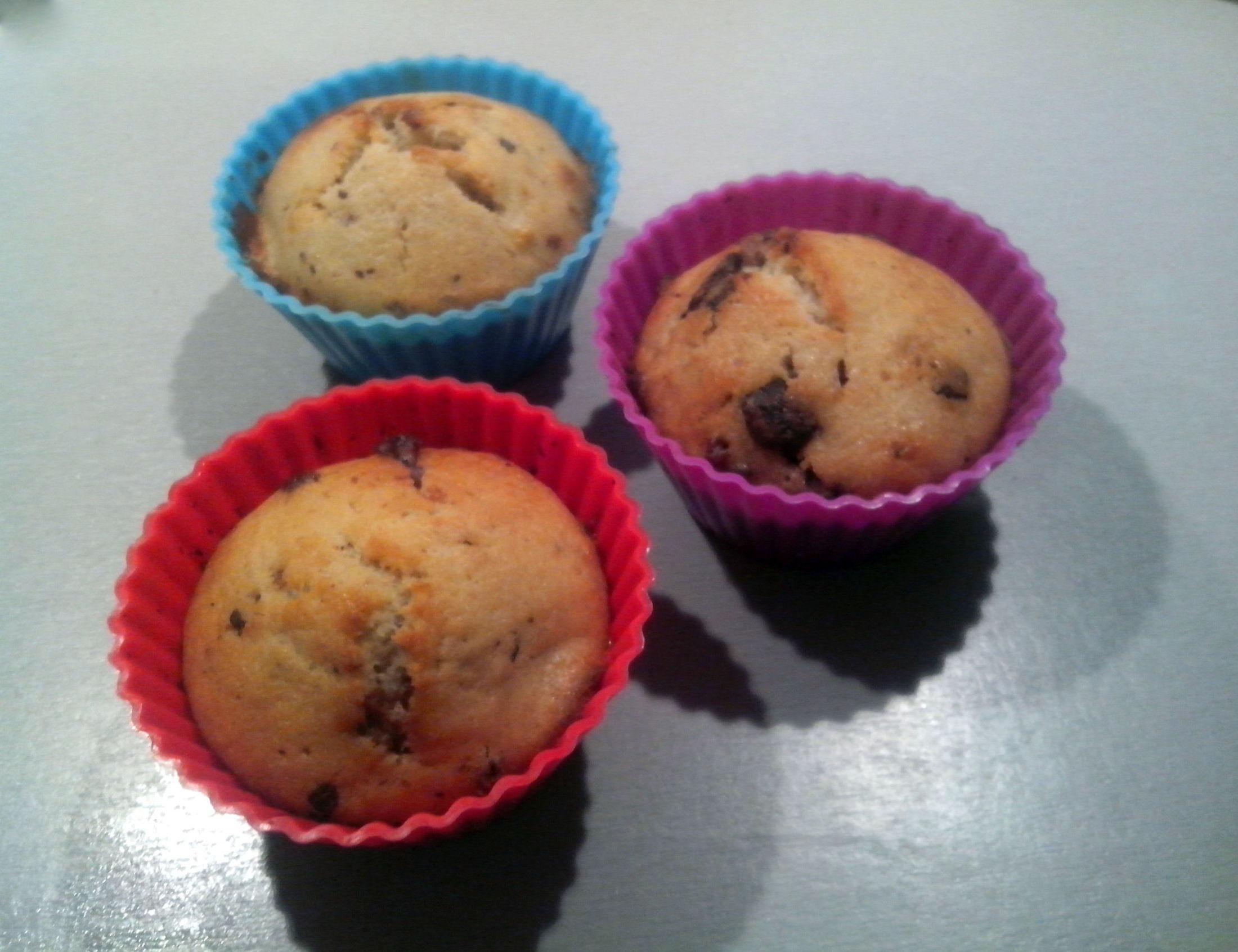 Banánové muffiny s jogurtem a čokoládou
