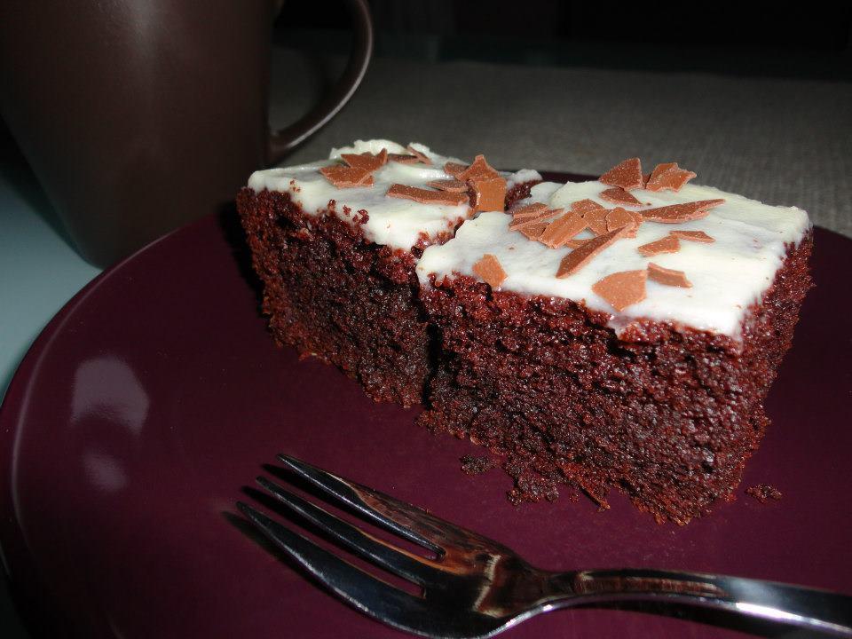 Recept Brownies s mascarpone - Brownies s polevou z mascarpone.