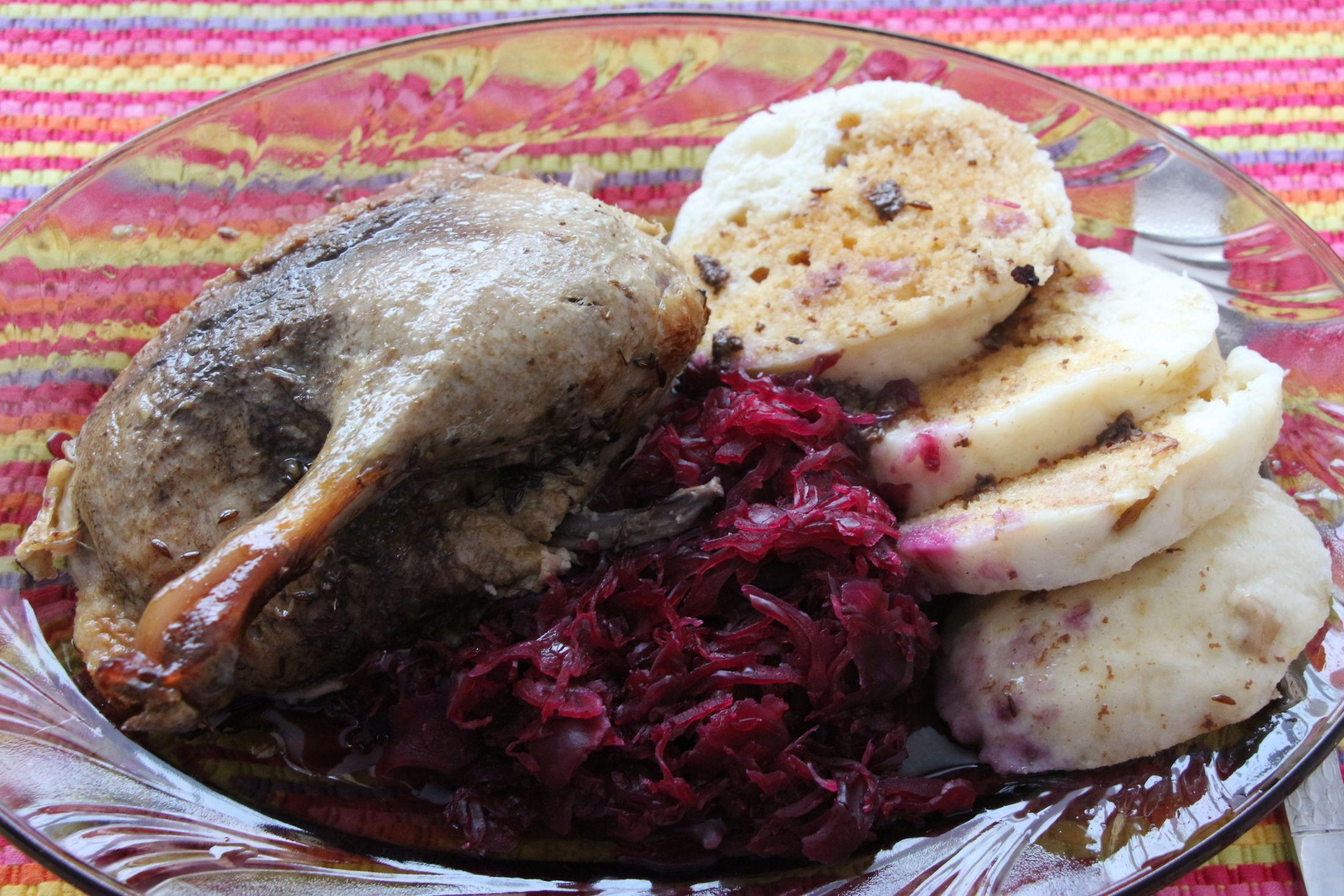 Fotografie receptu: Kachna pečená s jablky a medem