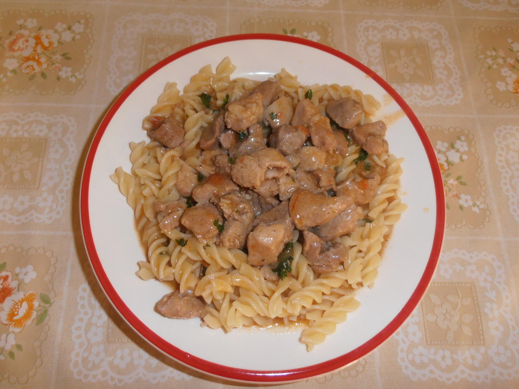 Vepřové maso na paprice