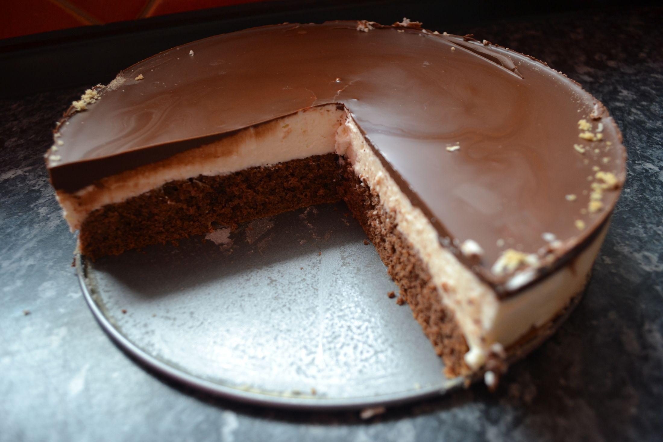 Recept Tvarohové Míša řezy - Míša řez v dortové formě