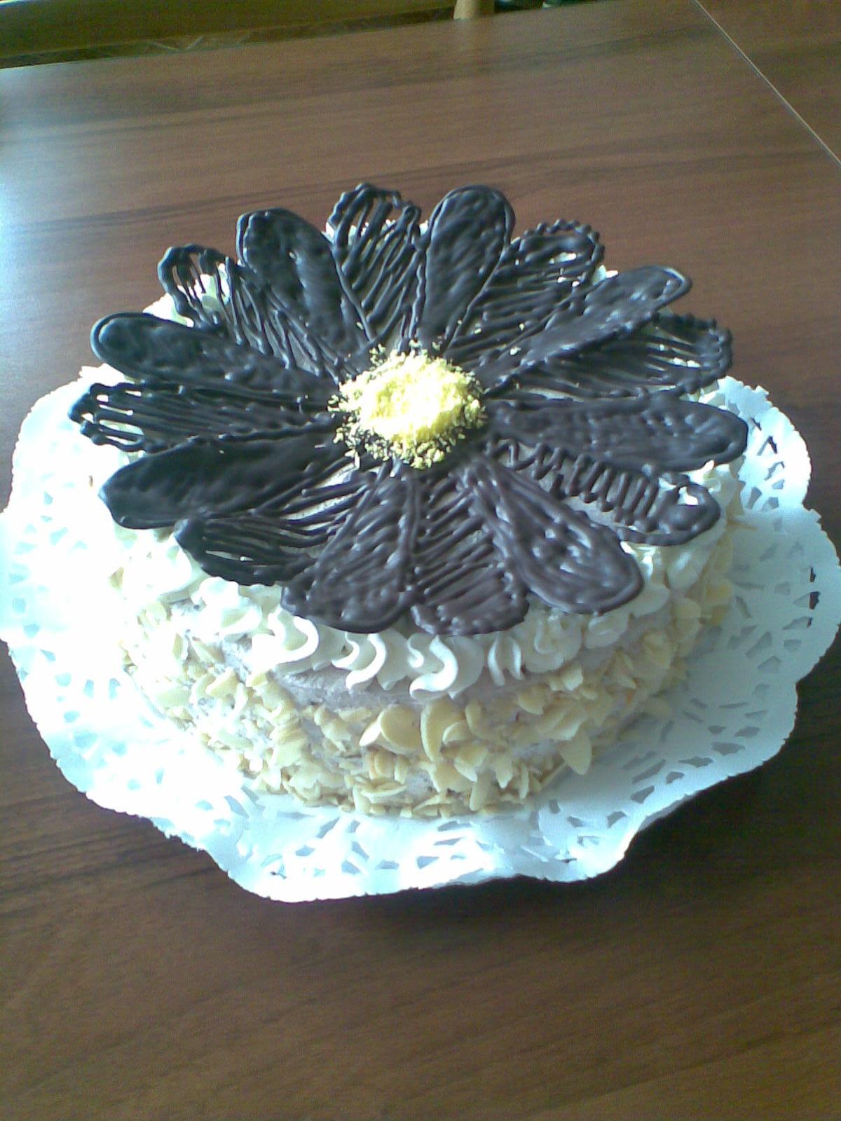 Recept Pařížský dort s ovocem - Možnost, jak ozdobit pařížský dort.