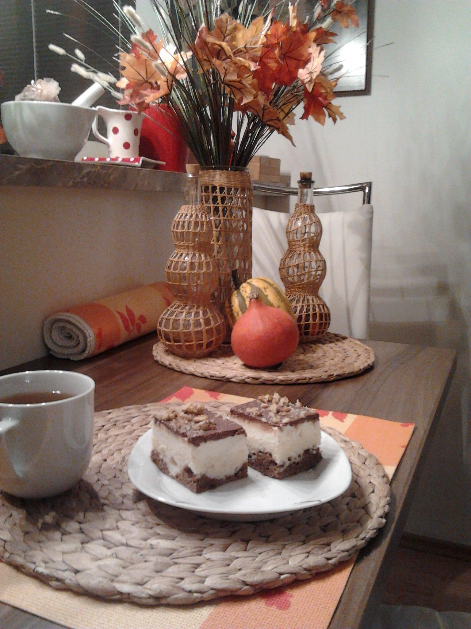 Recept Úžasné tvarohové řezy - První verze zdobení řezů