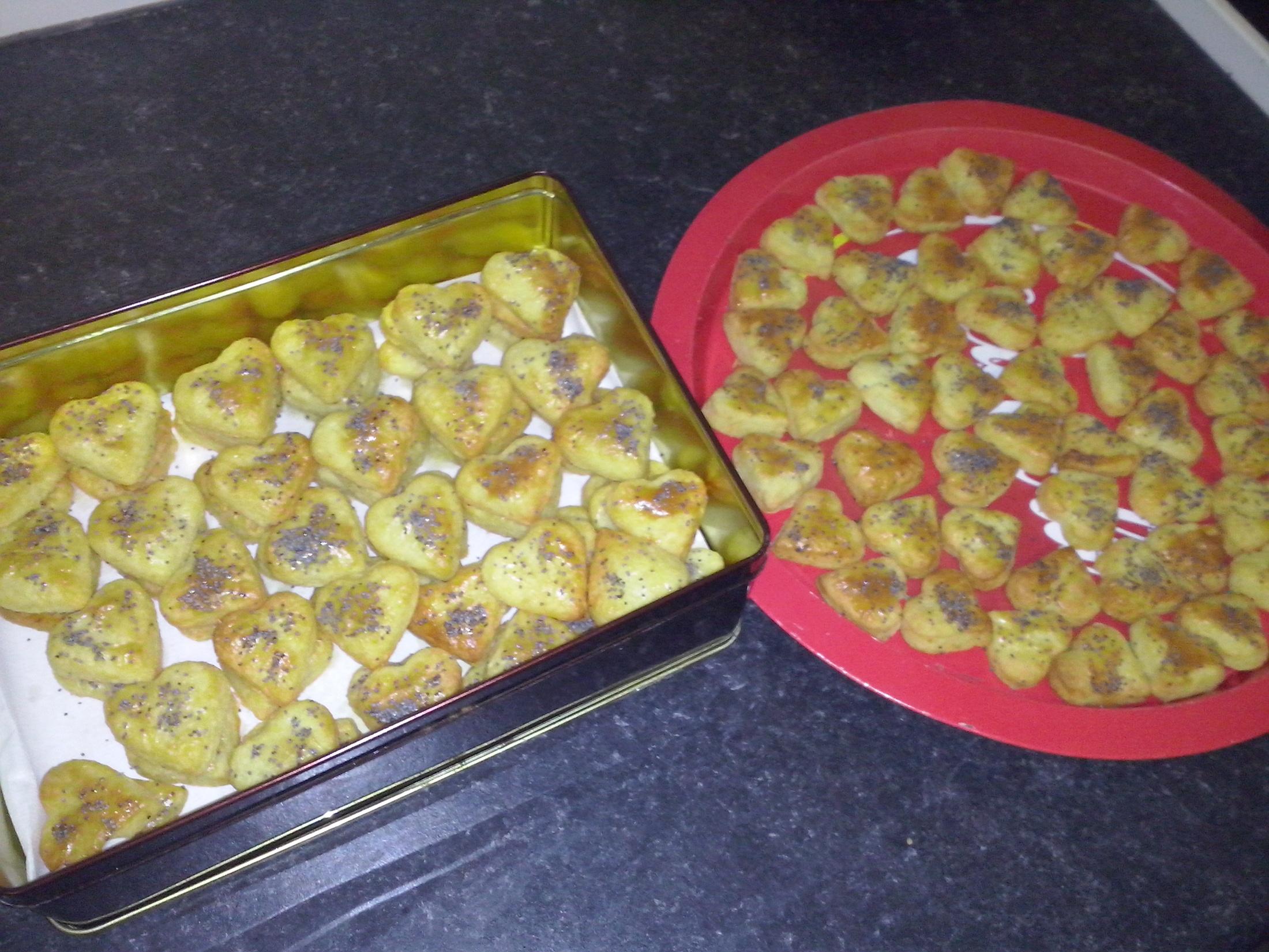 Recept Slané pečivo se sýrem - Sýrová srdíčka na oslavu 13. výročí