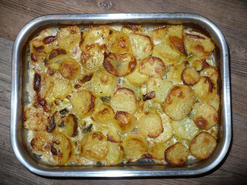 Recept Zapečené brambory s pórkem - Zapečené brambory s pórkem