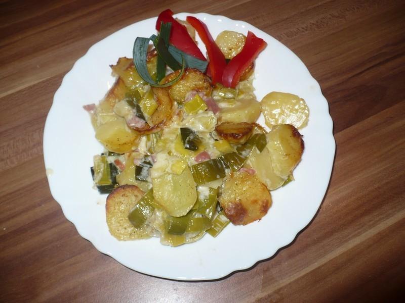 Recept Zapečené brambory s pórkem - A můžeme jíst!