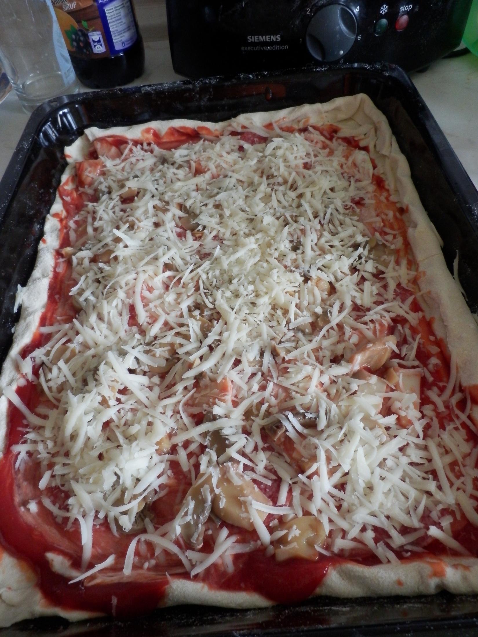 Domácí pizza z listového těsta