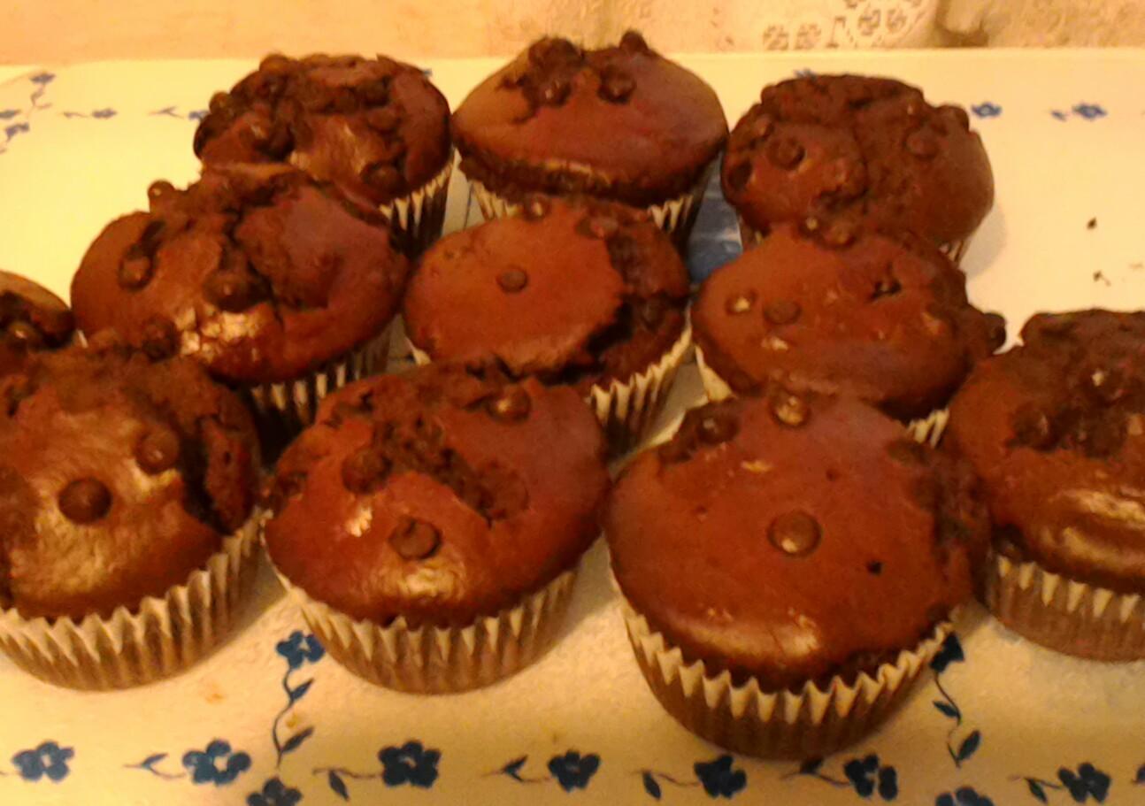 Fotografie receptu: Nejlepší kakaové muffiny