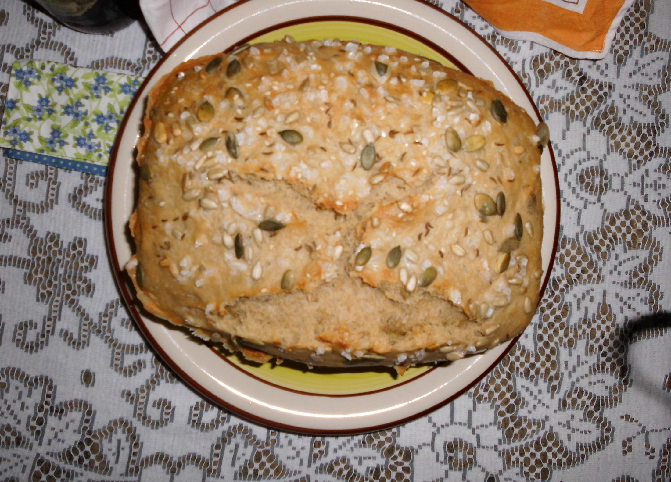 Recept Kájin chleba - Kájin chleba se semínky a hrubozrnnou solí