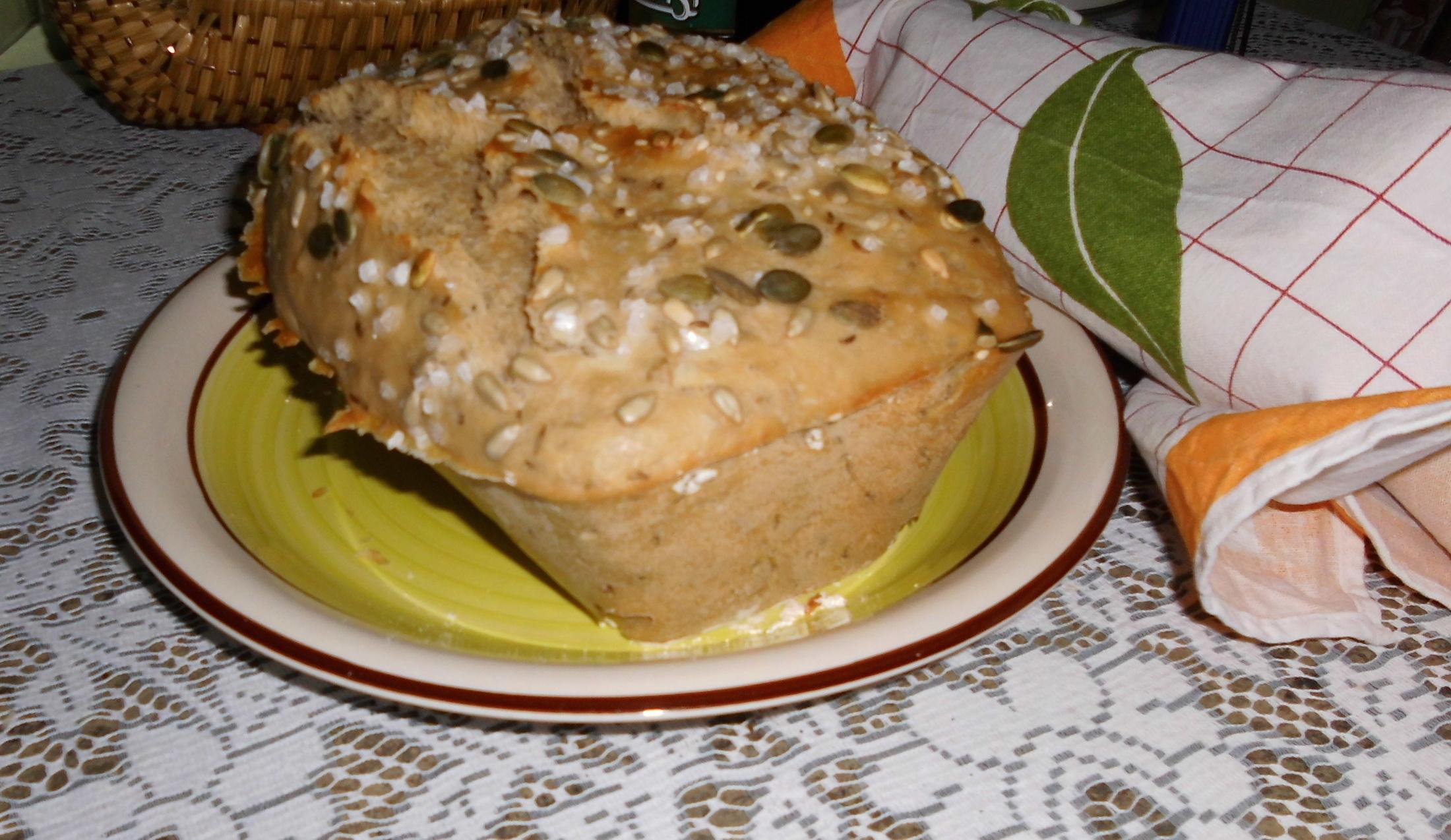 Recept Kájin chleba - Verze se semínky a hrubozrnnou solí