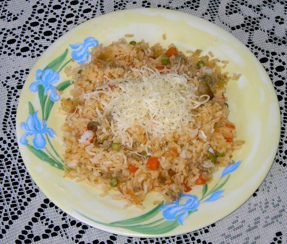 Rizoto s vepřovým masem a zeleninou