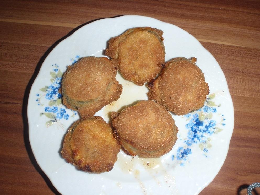 Recept Zapečená plněná cuketa v trojobalu - Zapečená plněná cuketa v trojobalu