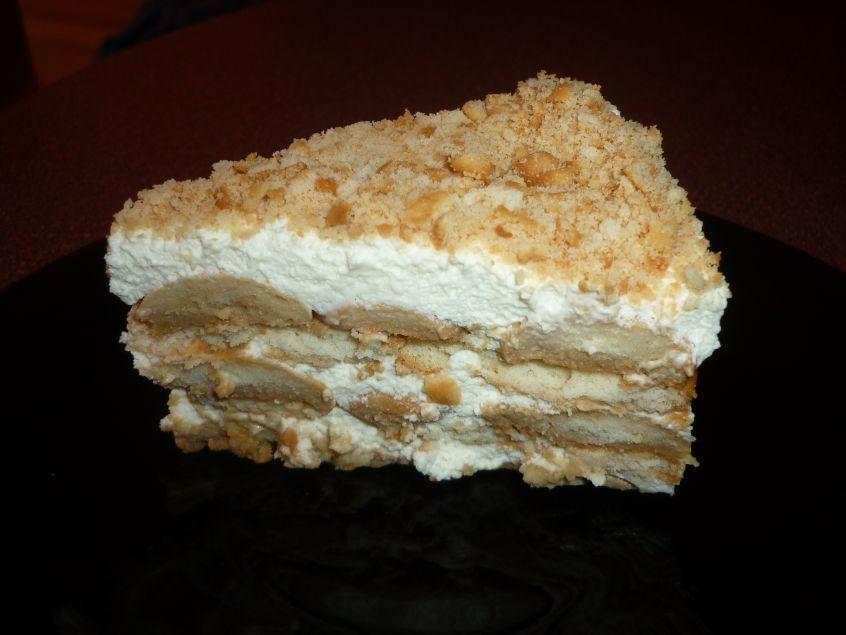 Fotografie receptu: Smetanový dezert s máslovými sušenkami