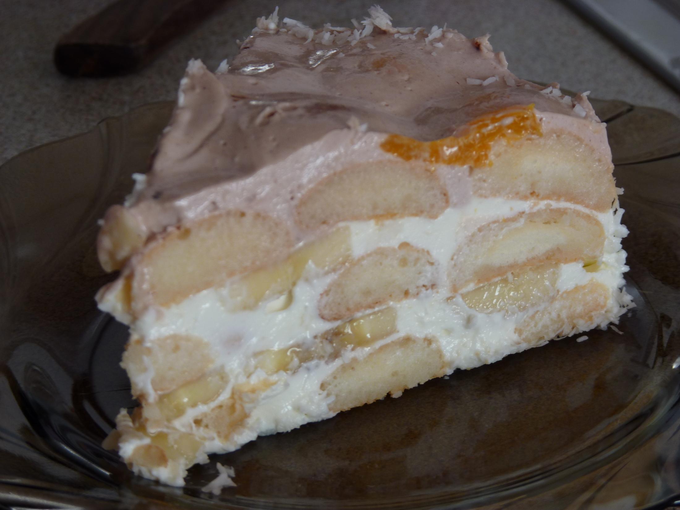 Fotografie receptu: Ovocný dezert se smetanou