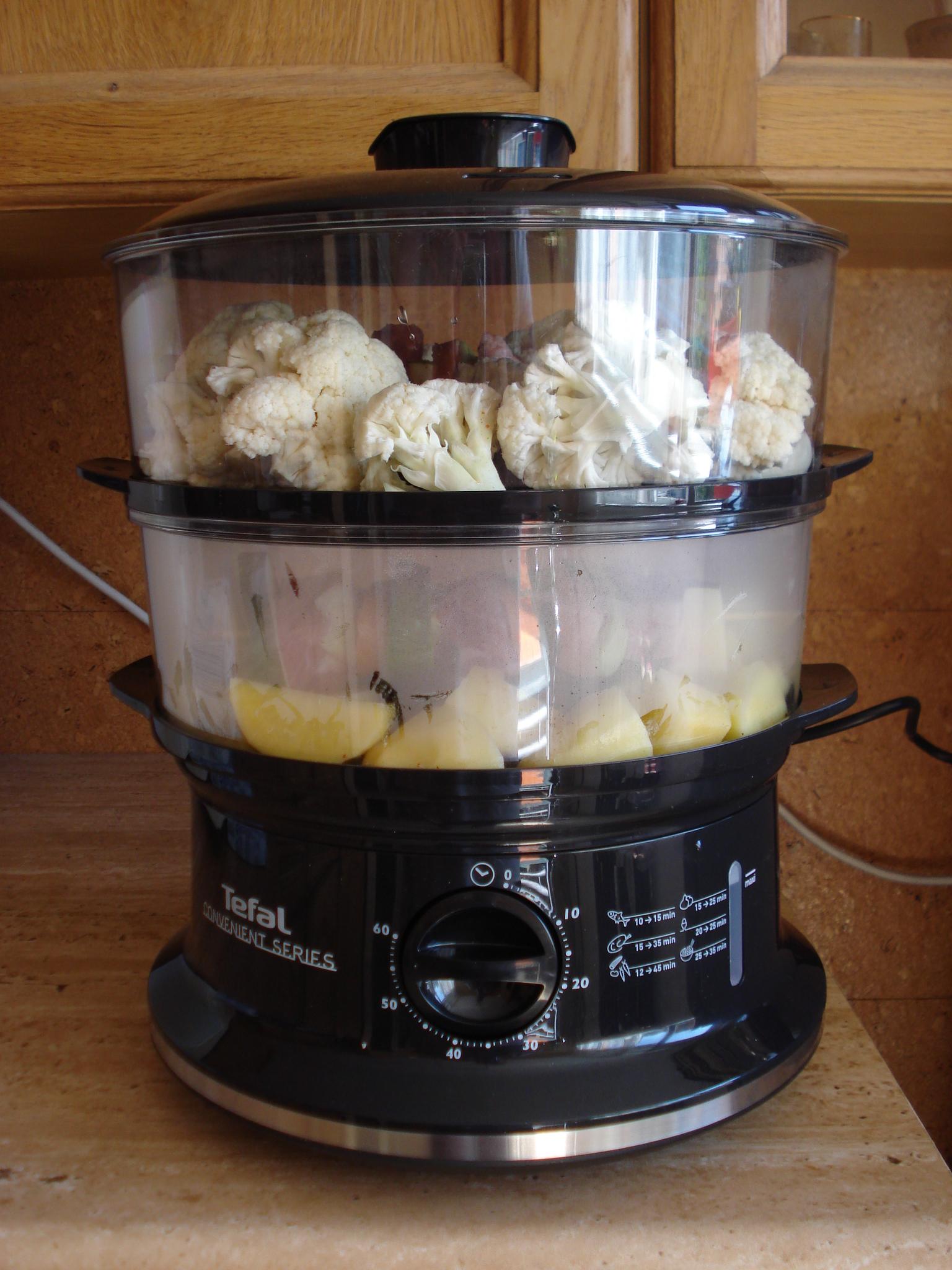 Recept Pestré špízy na páře - Už paříme spíš vaříme :-)