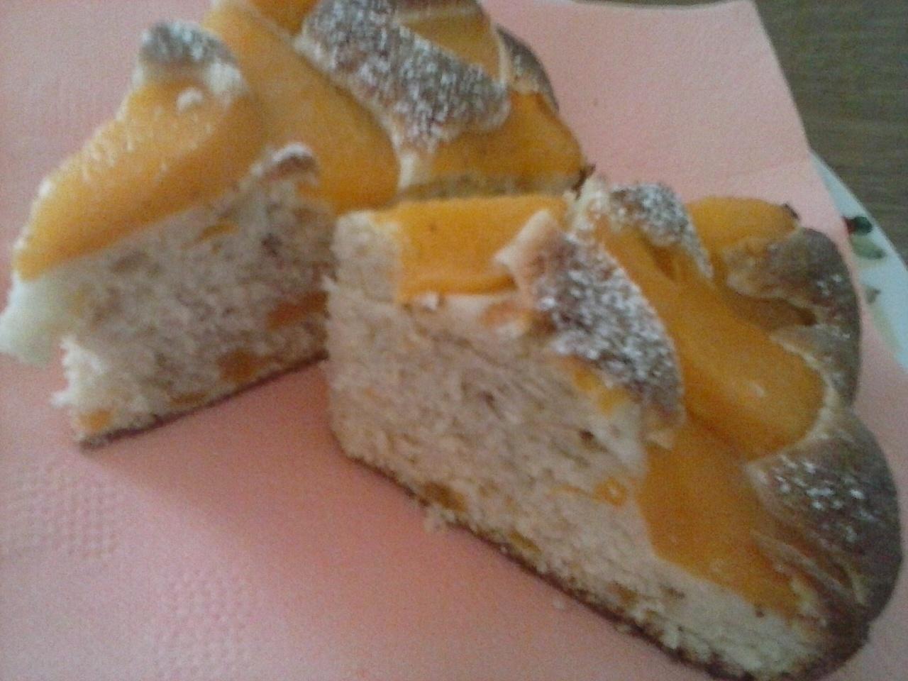 Recept Rychlý koláč s broskvovým kompotem - Rychlý koláč s broskvovým kompotem