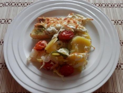 Zapečená treska se zeleninou