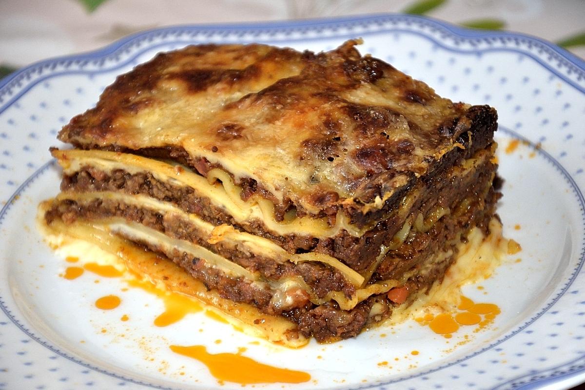 Lasagne podomácku upečené