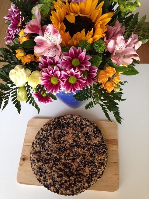 Lehký bezlepkový borůvkový koláč