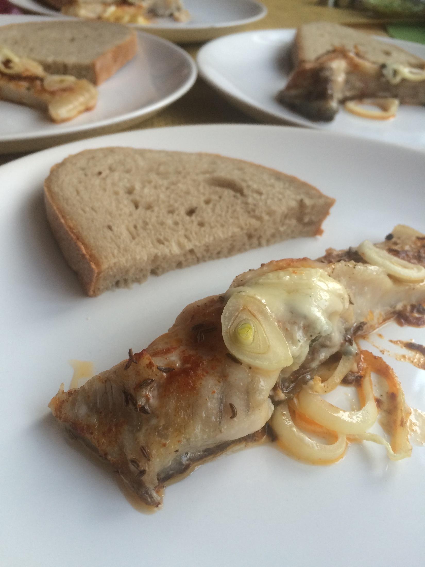 Kapr pečený na másle