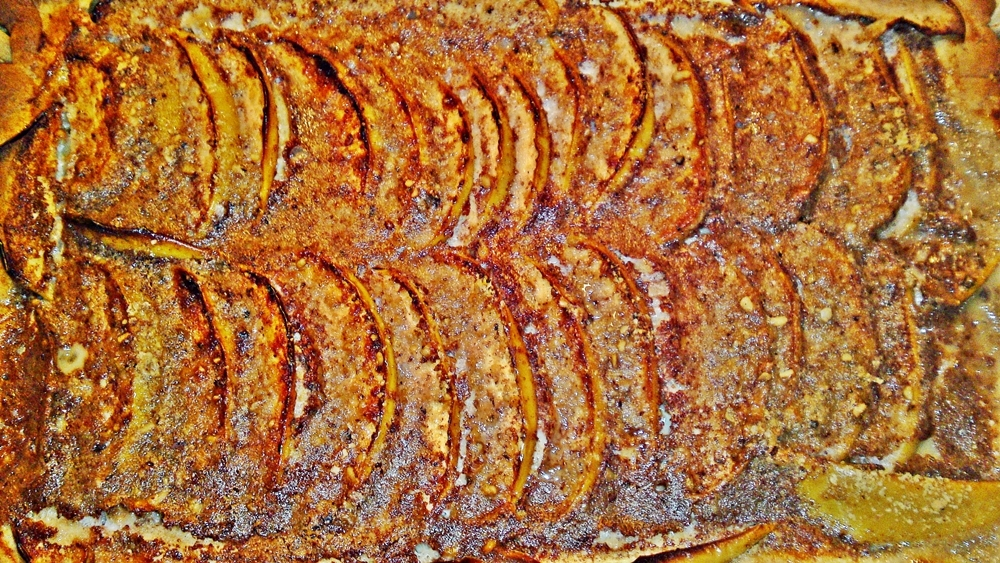 Recept Fínsky jablkový koláč alebo fínska jablková torta - Upečený jablkový koláč