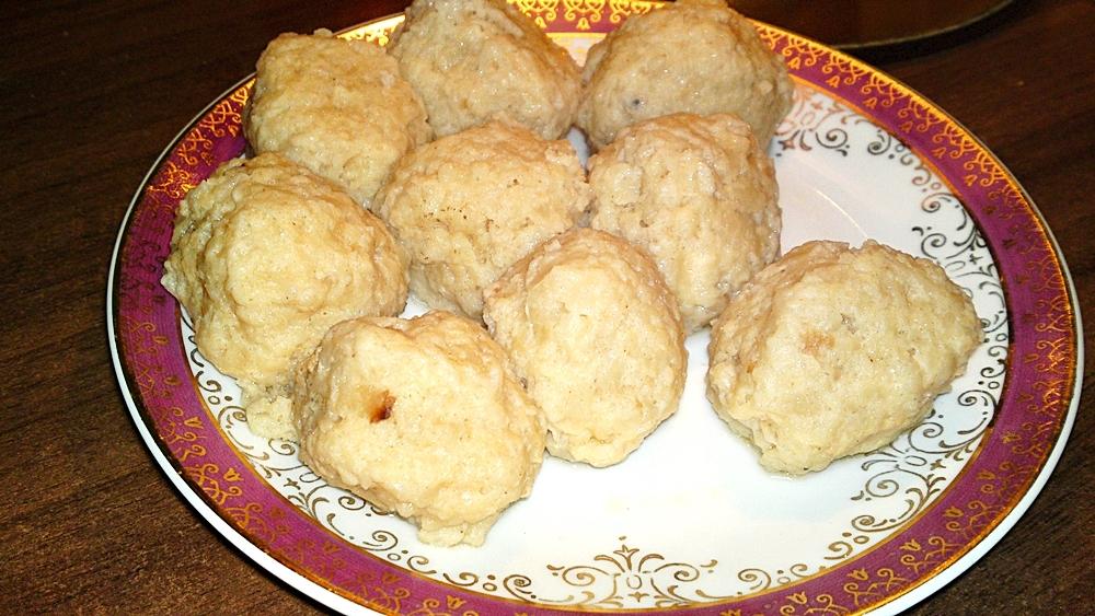 Recept Originál židovské macesové knedličky - Uvařené knedlíčky
