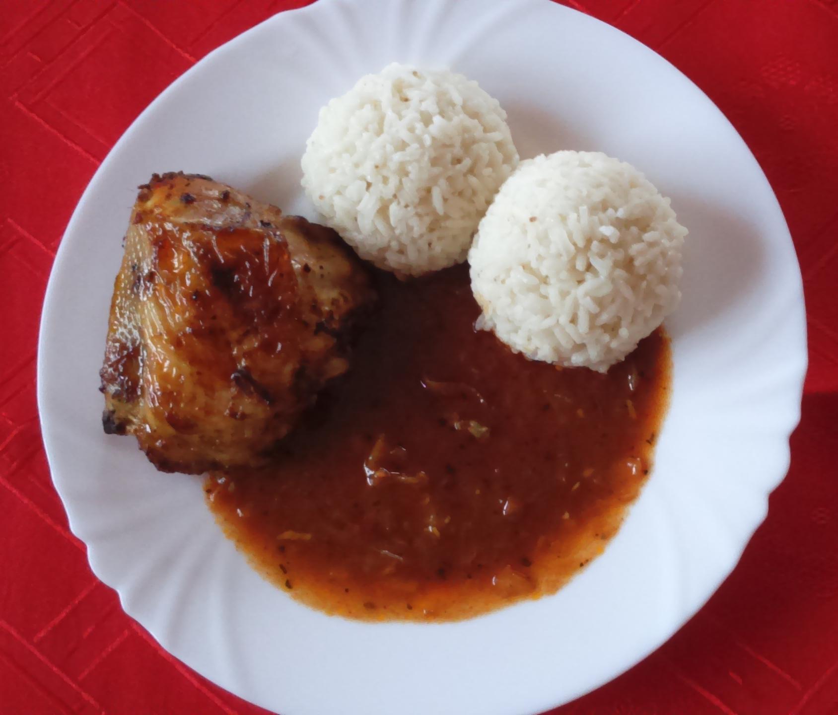Fotografie receptu: Zapečené pikantní kuřecí paličky