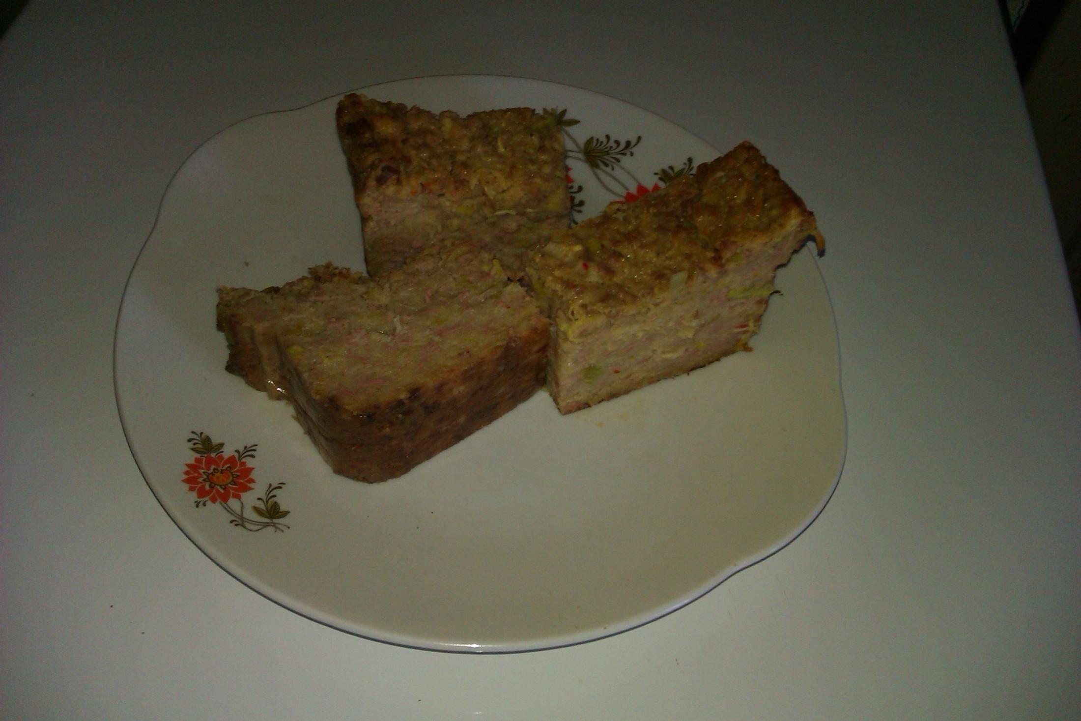 Recept Cuketová nádivka se salámem - Naporcovaná nádivka