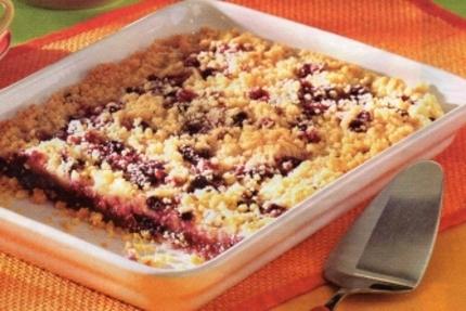 Fotografie receptu: Rychlý drobenkový ovocný koláč