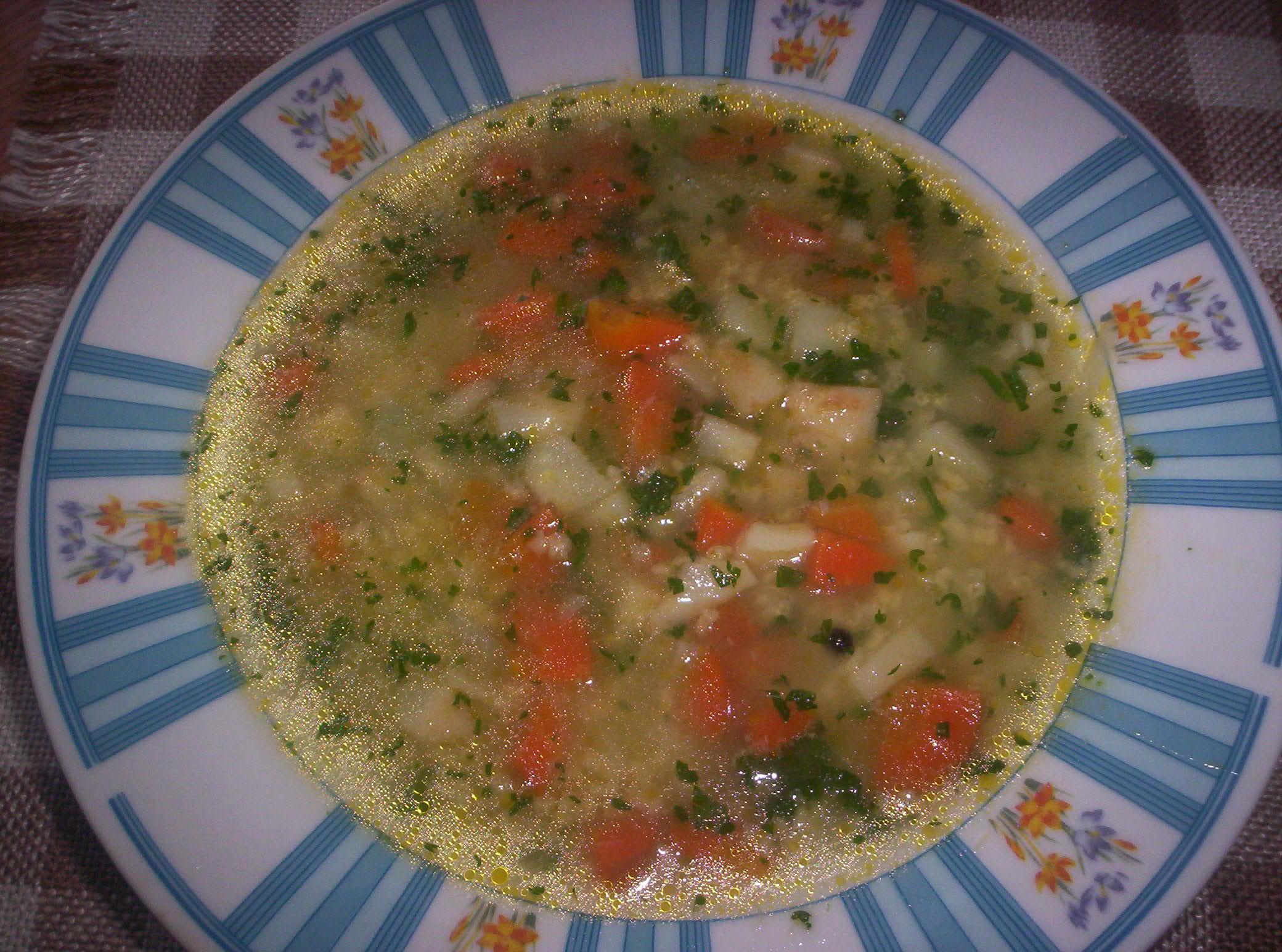 Zeleninová polévka s jáhlami