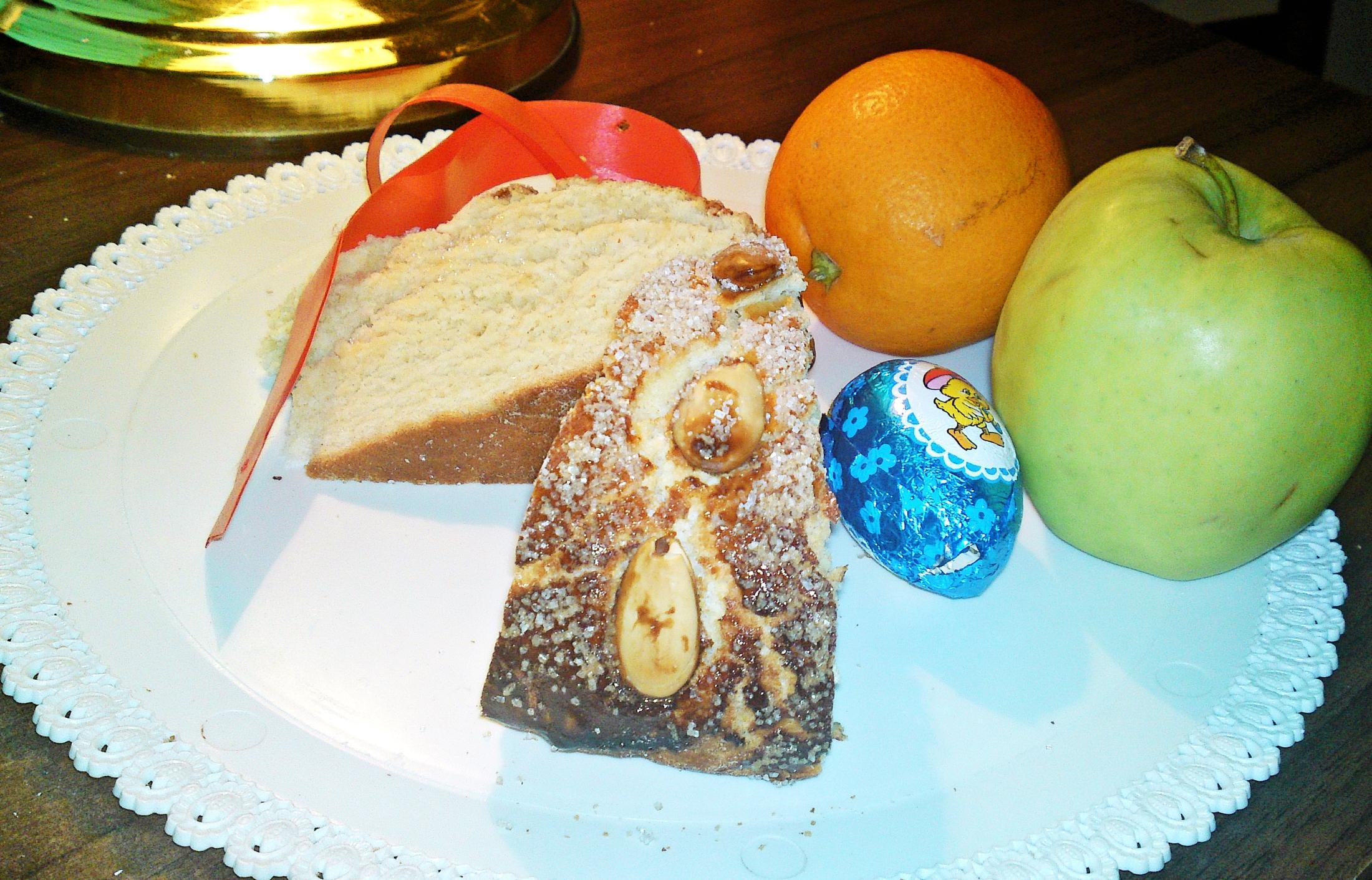 Recept Veľkonočný mazanec - Vychladlý mazanec pokrájíme na porce a podáváme.