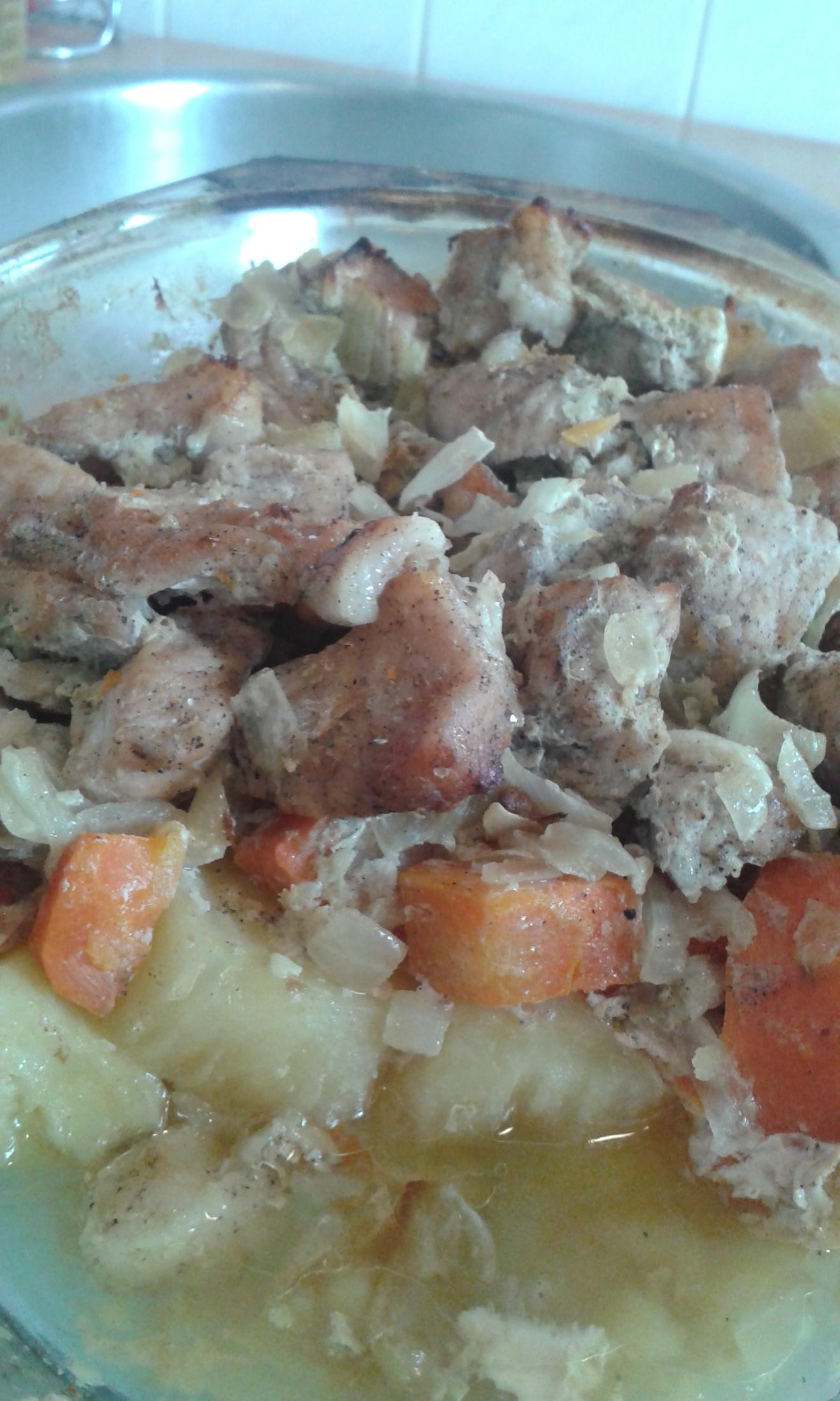 Vepřové výpečky s mrkví a bramborami