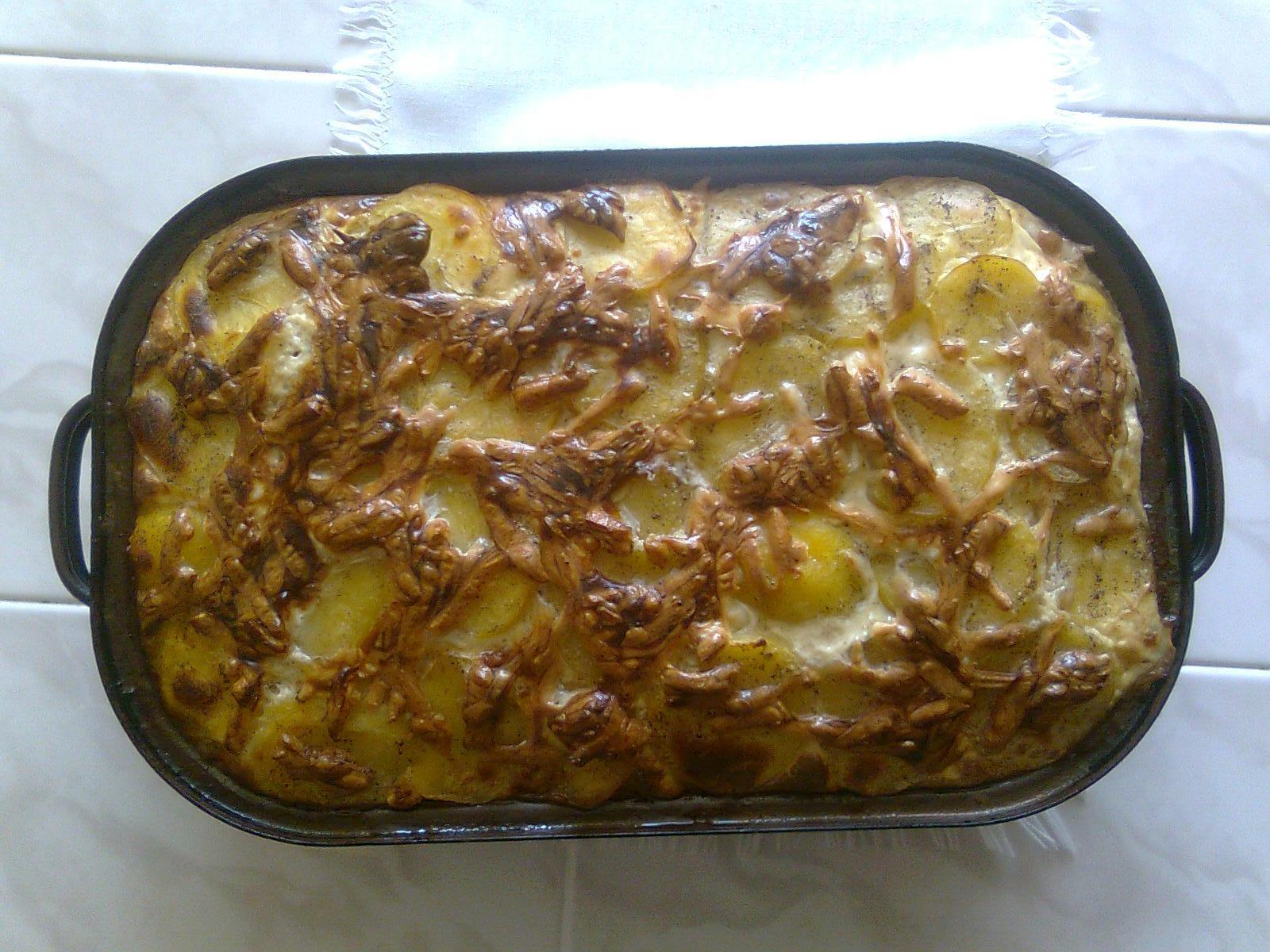 Francouzské brambory s uzeným