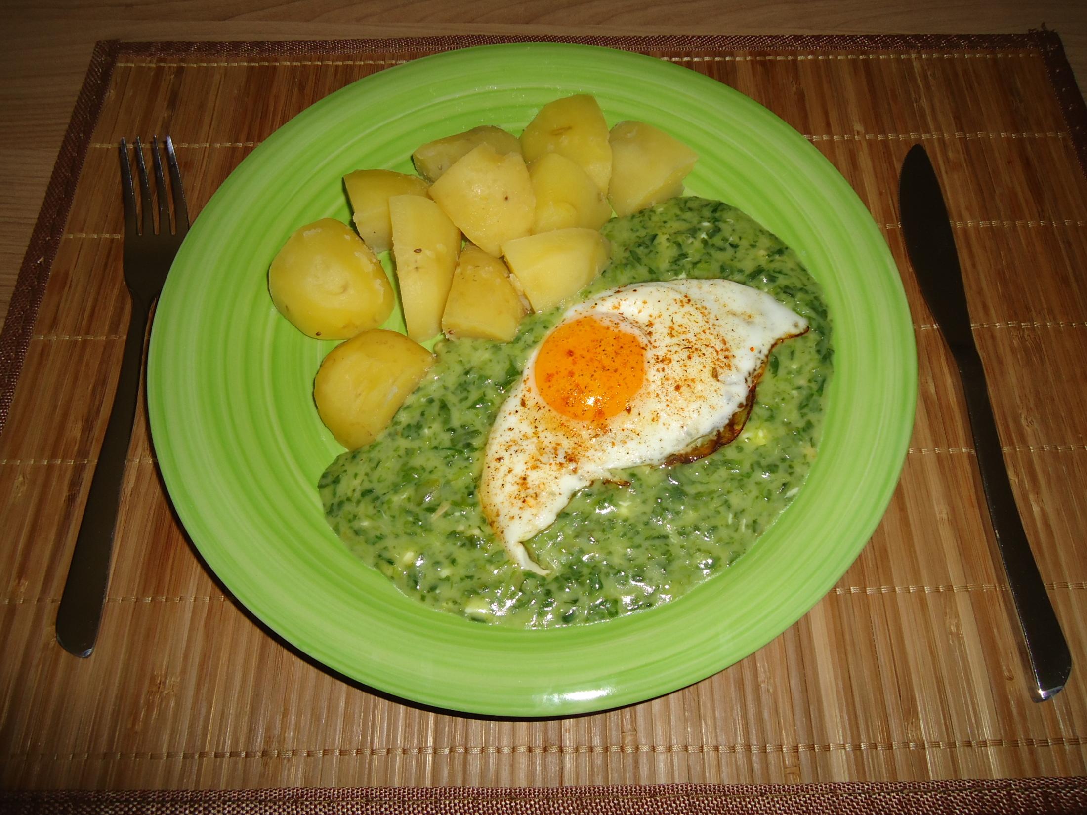Fotografie receptu: Špenát