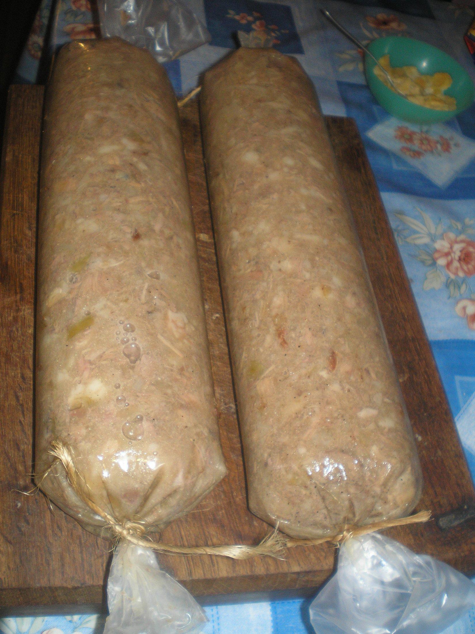 Recept Domácí tlačenka - Dělala jsem tlačenku poprvé a byla výborná.