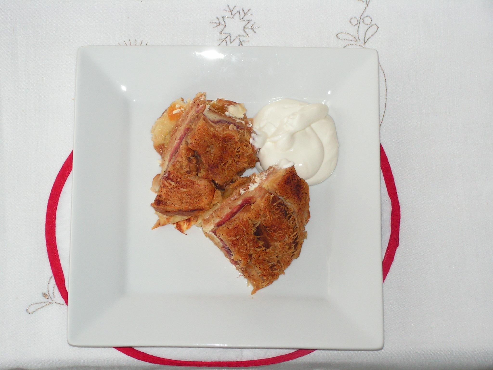 Recept Žemlovka - Žemlovka z jablek a vánočky