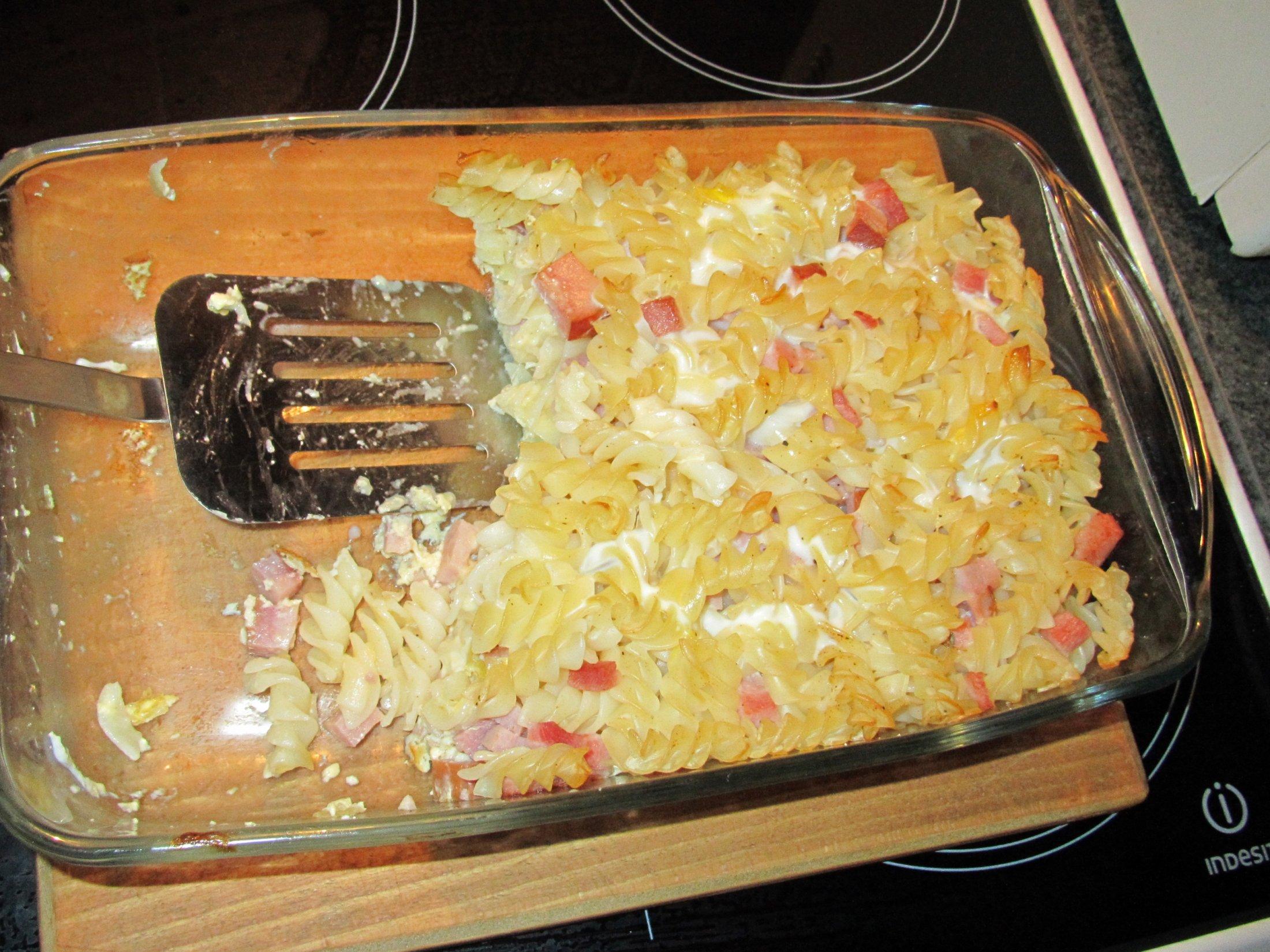 Recept Šunkofleky - Můj dnešní výsledek, děti se po flekách mohli utlouci, Majda si nechala naložit i k večeři :-)
