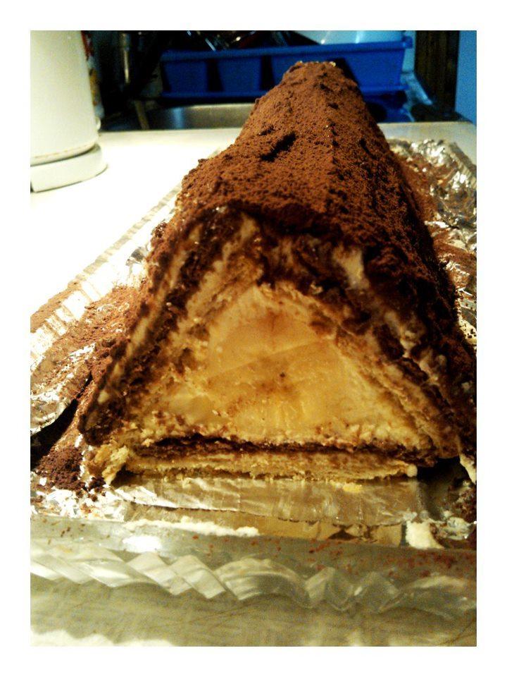 Recept Střecha z BeBe sušenek - Střecha z BeBe sušenek je skvělá :-)