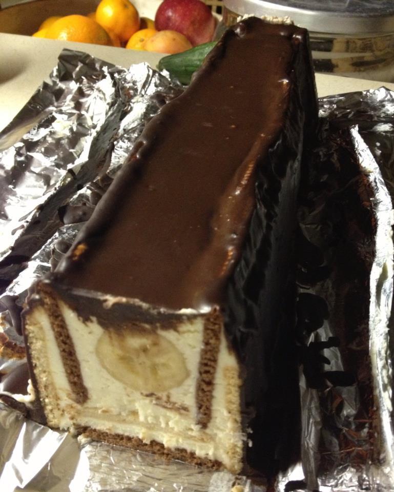 Recept Střecha z BeBe sušenek - Střecha z BeBe sušenek - pecková věcička :)