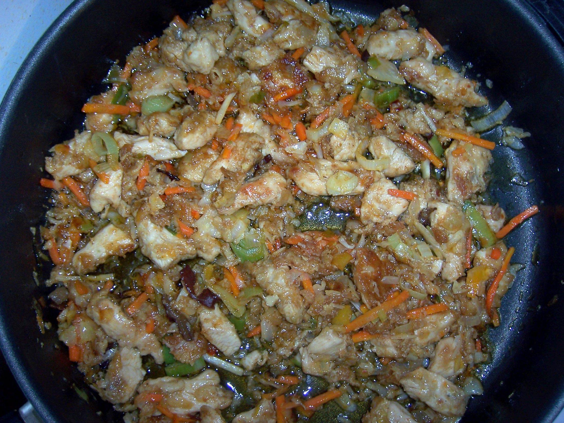 Recept Kuřecí čína se zeleninou - Před podáním na talíř.
