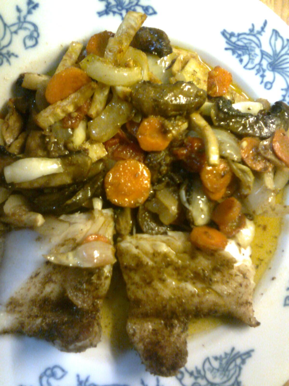 Fotografie receptu: Kapr na zelenině