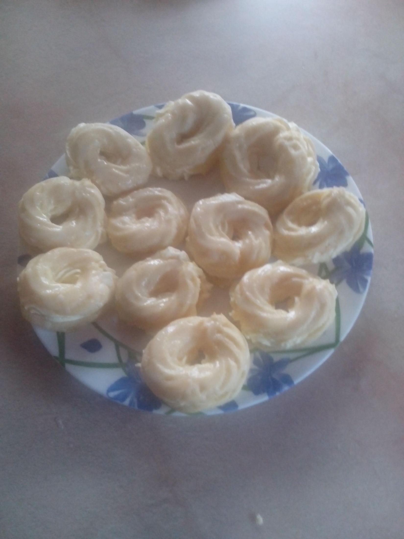 Fotografie receptu: Věnečky z odpalovaného těsta